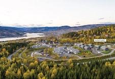 Dronefoto Skogen Sør. Her kommer Sveatunet! (foto: Joakim Mangen)