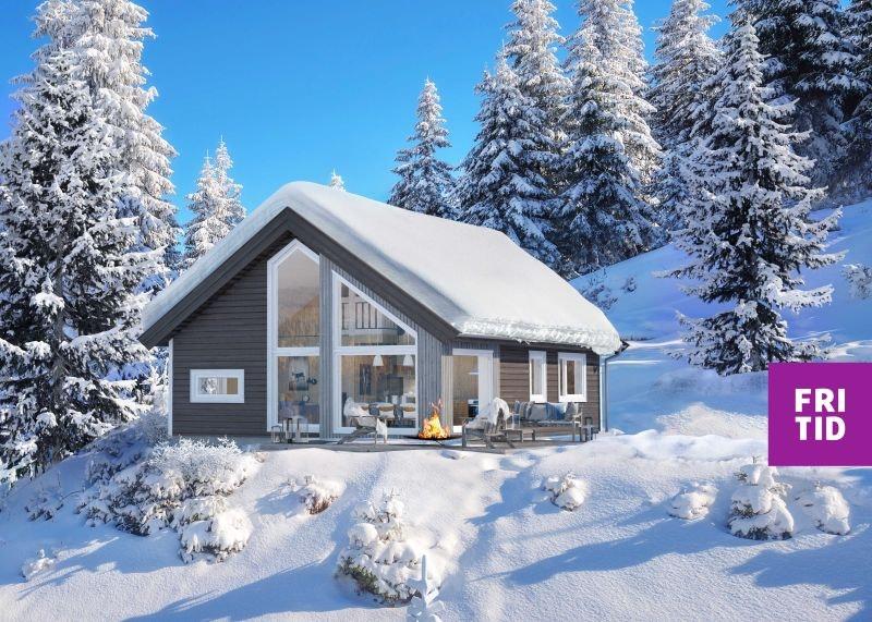 KAMPANJE*! Nøkkelferdig sportshytte i Lillehammerfjellet. 2sov + hems på 18m2 Flott turterreng og ski in/out langrenn!