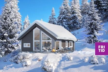 Nøkkelferdig sportshytte i Lillehammerfjellet. 2sov + hems på 18m2 Flott turterreng og ski in/out langrenn!