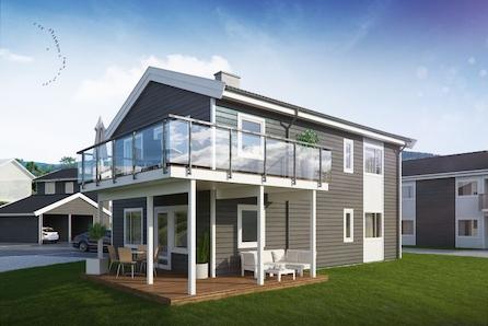 SKOGENÅSEN – Ny leilighet i h-delt tomannsbolig av høy standard, sentrumsnært på Søre Ål. Solrikt og barnevennlig