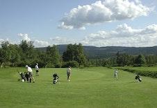Fra golfbanen