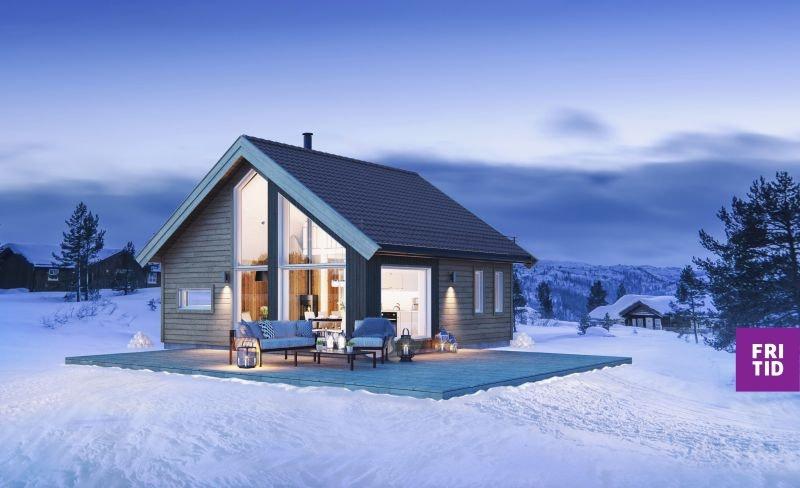 Birkenhytta Skramstad -en arealeffektiv hytte m/hems på 10m2. Nøkkelferdig på solrik tomt på Skei. Ski in/out langrenn!