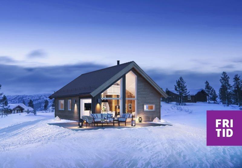 Birkenhytta Kvarstad -en arealeffektiv hytte m/hems på 19m2. Nøkkelferdig på solrik tomt på Skei. Ski in/out langrenn!