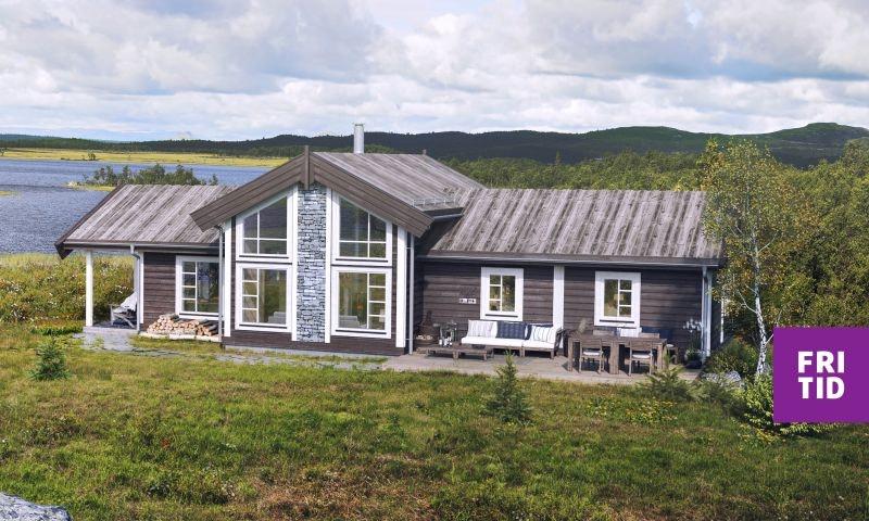 Skei fjellgrend - sosial familiehytte på solrik, stor tomt. 3+1 sov. Hems. Langrennski inn/ut.