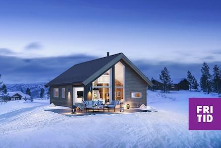 KAMPANJE* SKEIKAMPEN - Sportshytte med 2 sov + hems på 18m2. Tomt, grav betong inkl.