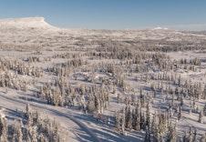 Fra hyttefeltet mot vest, dronefoto MonoMedia