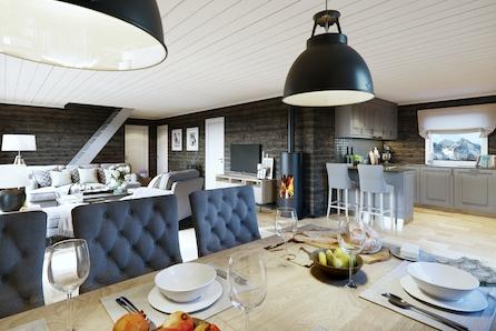 KAMPANJE* SKEIKAMPEN -  Prosjektert hytte med stor hems for ekstra sengeplasser. Tomt, grav og betong inkl.!