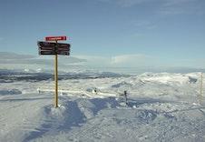 Flott utsikt i alpinbakken