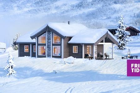 SKEIKAMPEN - Nøkkelferdig familiehytte på solrik selveiertomt! Kort veg til alpinanlegg og rett ved skiløypene.