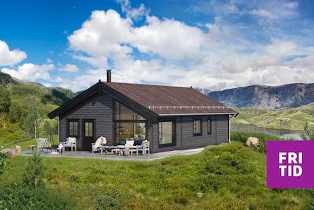 Romslig familiehytte på Skei. Ski in/out langrenn, nær alpinanlegg. Stor, solrik, flat tomt.