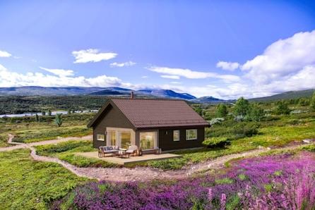 Birkenhytta Raudfjellet - prisgunstig hytte for hele familien. Solrik tomt ved Skeikampen. Langrennski in/out