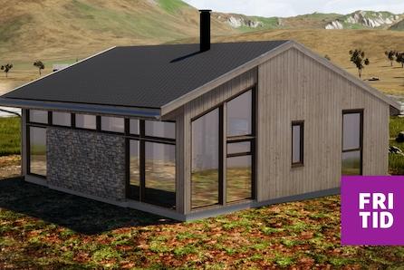 SKEIKAMPEN - Prisgunstig hytte på solrik tomt i Slåseterlia Fjellgrend- tomt, grav og betong inkl.