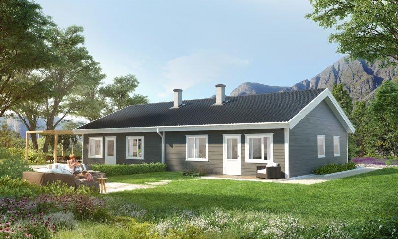 Reinsvoll - Moderne leilighet med alt du trenger på ett plan. 2 soverom. Gode tog- og bussforbindelser. Barnevennlig og solrikt.