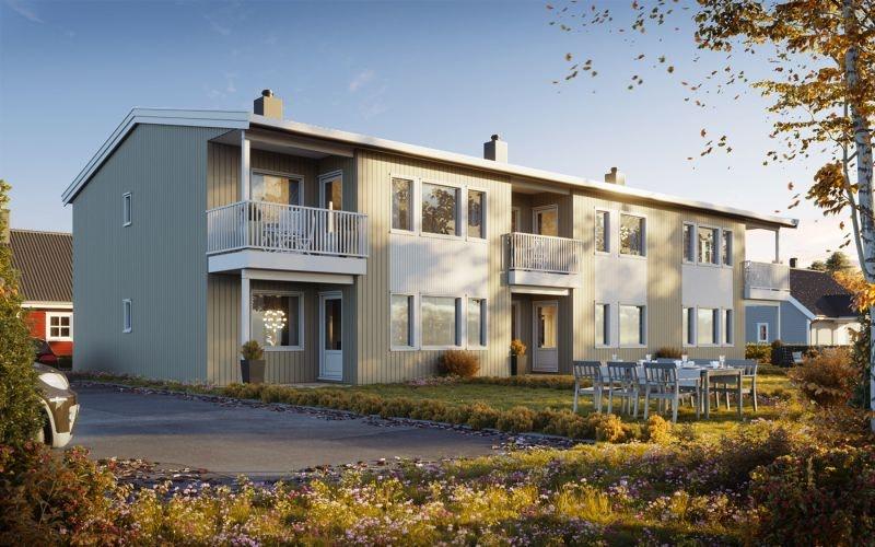 Velkommen til Krystallen. Her kan du sikre deg en ny og flott leilighet med gode planløsninger i sentrum av  Jevnaker.