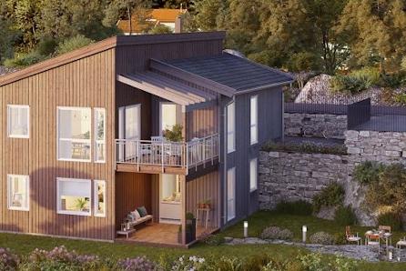 Bergermarka. Moderne og innholdsrik bolig på stor og flott utsiktstomt. Kort vei til skole, barnehage og turområder.