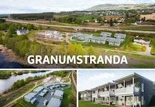 Velkommen til Granumstranda. Byggingen er startet og de første leilighetene er snart innflytningsklare.