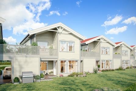 Nøkkelferdig! Planlagt kjedet enebolig med 3/4 sov, gode solforhold og stor terrasse!