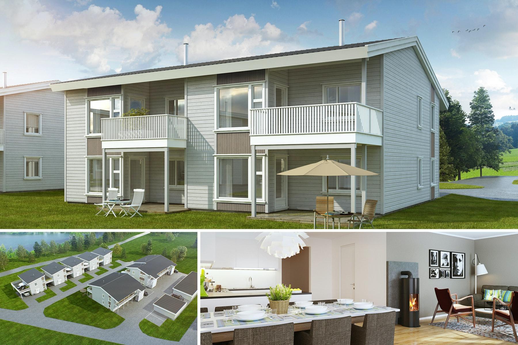 Visning Tor 28/3 kl 18-18:30-Innflytningsklar! Moderne leiligheter med alt på ett plan - 3 soverom -Carport - Solrikt!