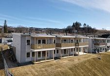 Fasade - Hus 3 under oppføring. Foto fra 8 april 2021.