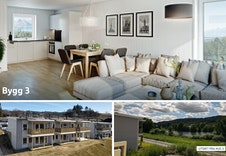 I hus 3 er det 3 leiligheter. 2 er solgt og 1 er ledig. Her får du fin utsikt mot Jaren-vannet.