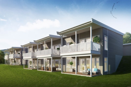 Granumstranda - Moderne rekkehus over to plan - 3 soverom - Gode solforhold og fin utsikt! 2 ledig!