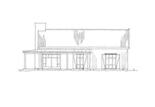 """Fasadetegning av hytten """"Nue"""""""