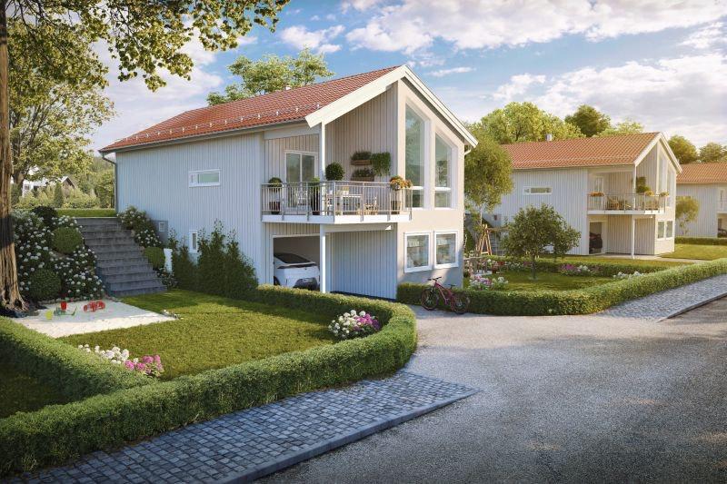 Moen/Steinerudsvingen - 3 soverom og 2 bad - integrert garasje med direkte adkomst til huset
