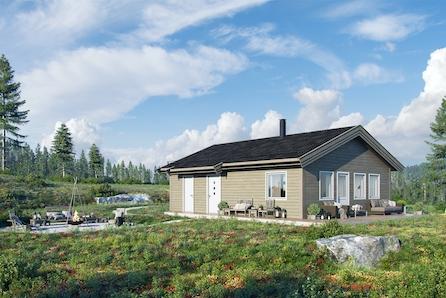"""Den nye hyttemodellen """" RO"""" - kun en time fra Oslo! Tomt  og grunnarbeide er inkludert"""