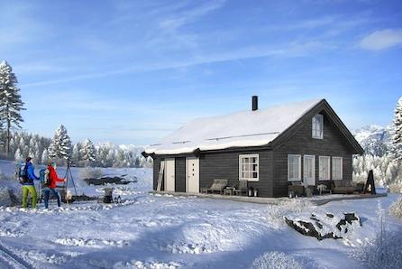 """Den nye hyttemodellen """" RO"""" m/hems - kun en time fra Oslo! Tomt og grunnarbeidet er inkludert ."""