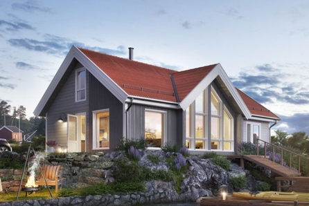 GAMLESTØLEN -  Ny hytte på Skåletjernshøgda tomt 104 med mange sengeplasser