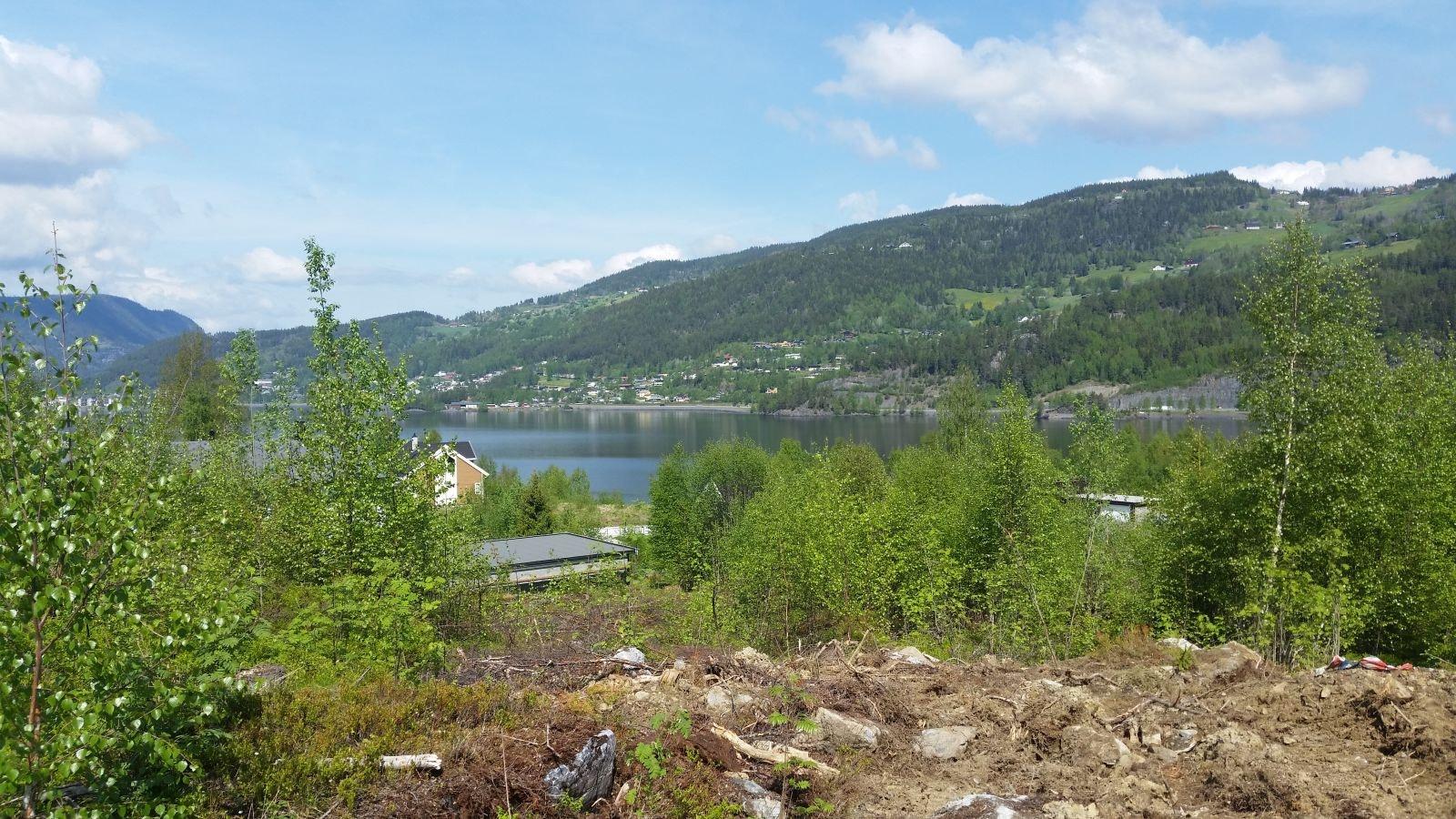 Leira - Landlig og sentrumsnær tomt på Førsøddin. Flott utsikt, solrikt og skjermet.