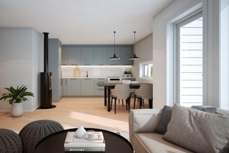 Heggenes  - På jakt etter noe nytt med alt på en flate? | 2-3 soverom| Lettstelt | Planlagt byggestart høsten 2019!