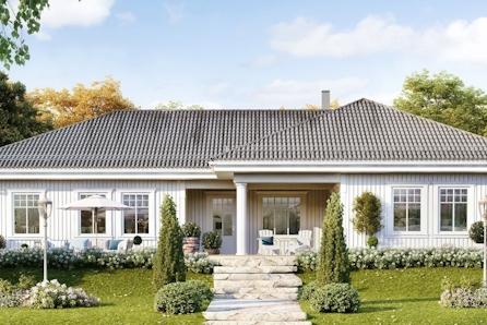 En sjelden sjanse i Haug. Herskapelig hus på stor og tilbaketrukket tomt!