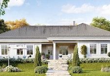 Herregaard. Dette er en illustrasjon av huset og vil avvike fra det virkelig miljø og omgivelser.