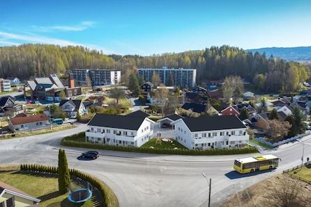 Flotte sentrumsnære 4-romsleiligheter med carport -Haldenjordet på Hønefoss