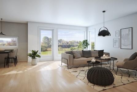 Hyggelig tomannsbolig med alt på en flate med gangavstand til Dagligvare - Nes i Ådal på Ringerike -  2 SOLGT