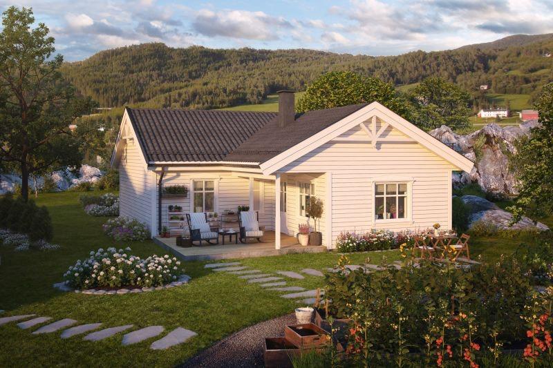 TYRISTRAND. Klassisk enebolig på solrik tomt. Mulighet for Husbankfinansiering - Gunstige månedlige kostnader.