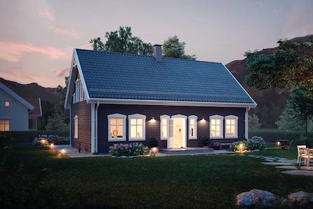 Sjarmerende familiehus med smart planløsning på flott utsikttomt over Tyrifjorden.