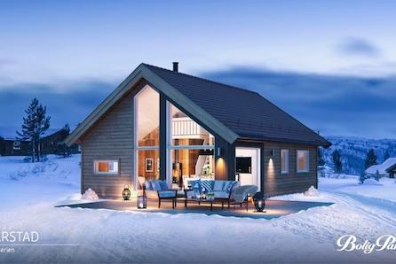 BJØDNALIE - Moderne og praktisk hytte m/hems fint bel. med vid utsikt og gode solforhold. Ca 20 min. fra Gol sentrum/tog