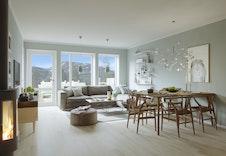 Interiør leilighet 1 og 3 Illustrasjoner er kun ment som en illustrasjon og vil kunne avvike fra standard leveranse og miljøet rundt.