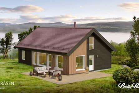 TORPOÅSEN - Sportshytte m/hems beliggende på en kolle, ved skiløyper, med gode solforhold og panoramautsikt til bla. Hallingskarvet / Reineskarvet