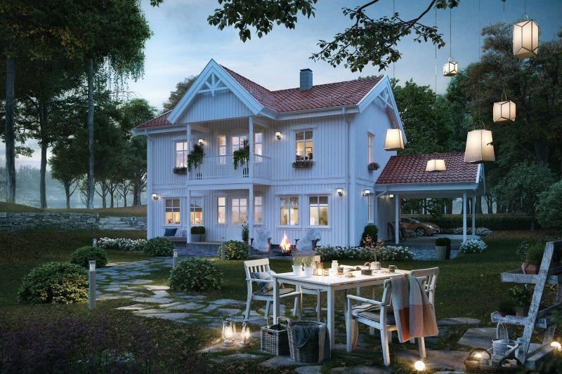 Flott familiebolig over to fulle plan med carport prosjektert i nytt og barnevennlig boligfelt på tomt 7 i Vøllovegen, Geilo