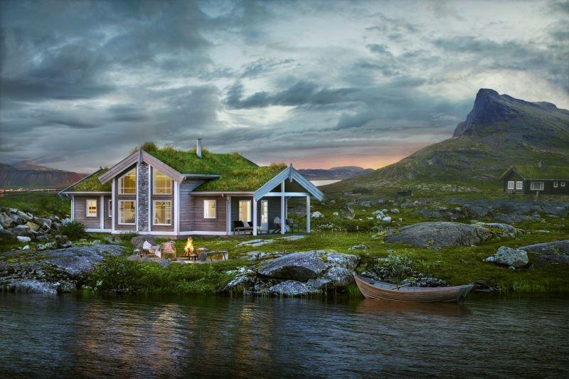 Prosjektert familiehytte flott beliggende på Myrland, gode solforhold og fin utsikt til Hallingskarvet