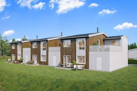 Nye Arkitekttegnet rekkehus nær Røyken sentrum m/carport og terrasse