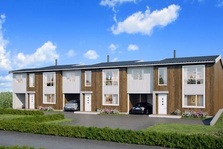 Nye Arkitekttegnet rekkehus nær Røyken sentrum m/carport og terrasse. 1 Solgt!
