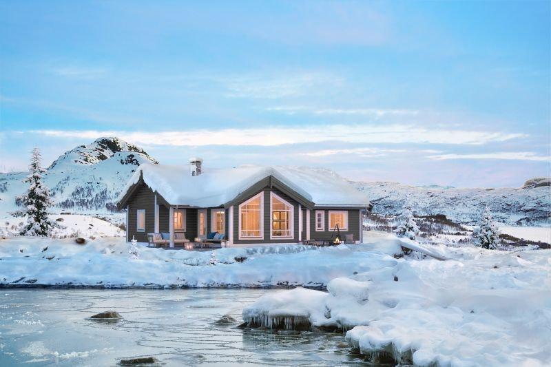 Veggli/Rustvegen Vest - Romslig hytte med 3 soverom og hems. Solrikt med flott utsikt mot Hardangervidda.