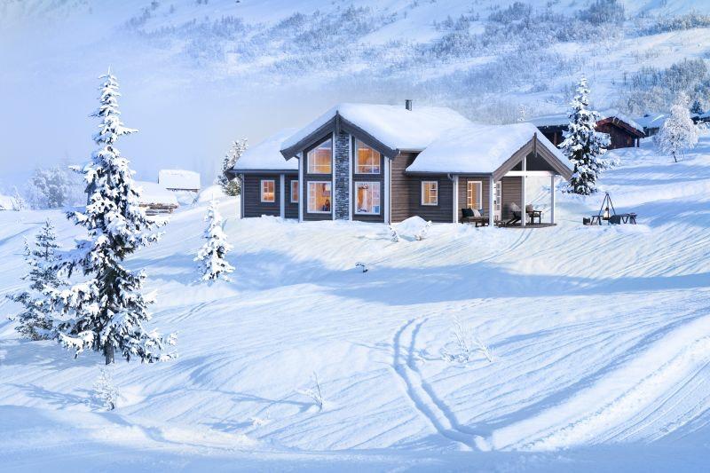Vegglifjell Lauvhovdnuten - Innholdsrik hytte med mønt himling i stue. 3 soverom, 2 boder og hems. Flott utsikt med alpinbakke, skiløyper og Hardangervidda i umiddelbar nærhet.