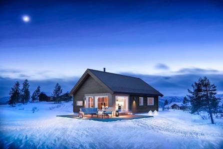 Vegglifjell/Mykstulia - Tomt/grunnarbeid og komplett nøkkelferdig hytte. Økonomisk hytte med 3 soverom.