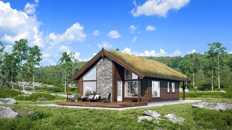 Veggli/Rustvegen Vest - Hytte med hems . Solrikt med flott utsikt mot Hardangervidda. Kan utvides/tilpasses.