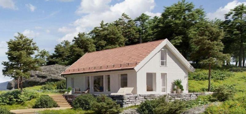 Tjøme/Åsen - Romslig hytte med stor hems. 116 m2 gulvareal. Hyttetype kan endres.